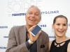 BERLIN, GERMANY - JULY 02: Jo Groebel and Maria Mahler of Samsung attend the Samsung Designer Soiree at Epicentro art gallery during the Mercedes-Benz fashion week spring and summer 2014 on July 2, 2013 in Berlin, Germany. (Photo by Alexander Becher/Getty Images for Samsung)