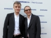 BERLIN, GERMANY - JULY 02: Roberto Rimondi and Tommaso Aquilano attend the Samsung Designer Soiree at Epicentro art gallery during the Mercedes-Benz fashion week spring and summer 2014 on July 2, 2013 in Berlin, Germany. (Photo by Alexander Becher/Getty Images for Samsung)