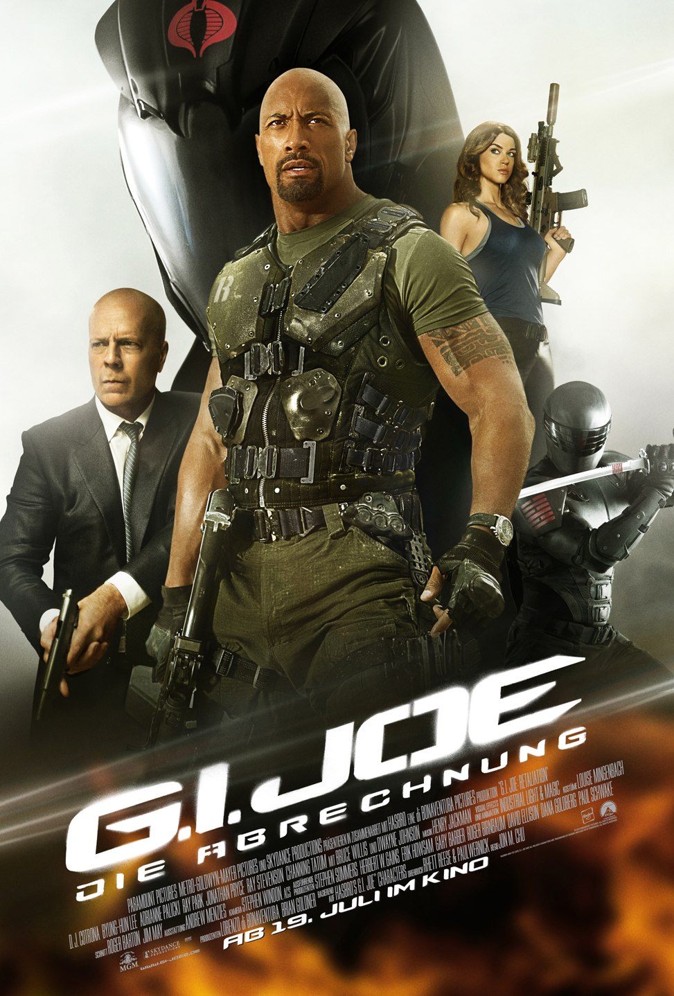 g i joe die abrechnung mit bruce willis und dwayne. Black Bedroom Furniture Sets. Home Design Ideas