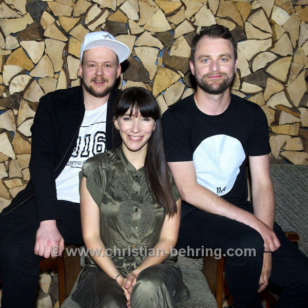 "Angela Maria Peltner, Lars Hengmith, Christian Hering, ""3VIERTELELF"", Photocall in der Bar ""Anna Hirsch"",  am 05.06.2015 in Berlin, Germany(Photo: Christian Behring, www.christian-behring.com)"