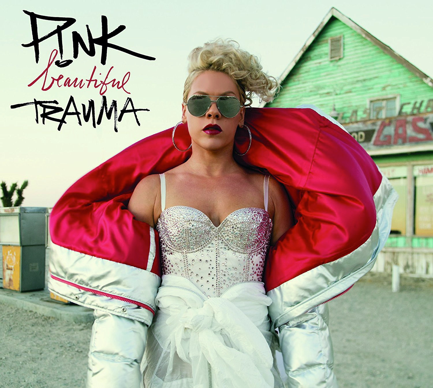 beautiful trauma, pink, album-cover, 2017
